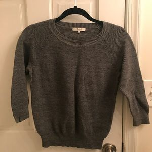 Madewell sweater size Small -Charcoal Gray